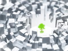 Last tree - stock illustration