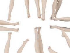 Female legs Stock Illustration