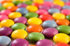 Colored bon bons background Stock Photos