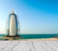 "Luxury hotel Burj Al Arab ""Tower of the Arabs"" Stock Photos"