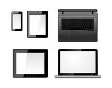 Laptop, tablet pc computer and mobile smartphone Stock Illustration