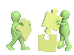 Success of teamwork Stock Illustration