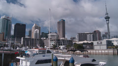 Time lapse of downtown Auckland - stock footage