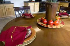 Close up on a Decorated Dinner Table Stock Photos