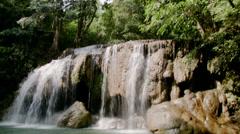 Thailand Erawan Waterfall Stock Footage