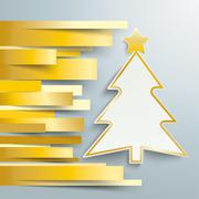 Christmas tree golden stripes Piirros