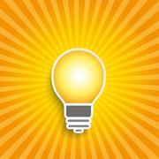 Stock Illustration of bulb retro shine