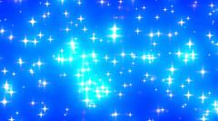 Blue Glowing Stars Background Loop 1 Stock Footage