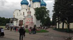 SERGIEV POSAD, RUSSIA, JUNE 13 2014: Trinity Lavra of Saint Sergius Stock Footage