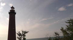 Litte Sable Point Lighthouse Stock Footage