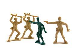 Bravery Concept - Plastic Soldiers - stock photo