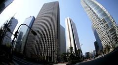 Shinjuku Center Mode Gakuen Cocoon skyscraper Tokyo Japan - stock footage