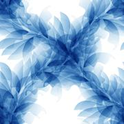 Seamless Tender background with blue abstract flower Stock Illustration
