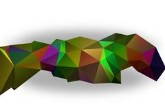Abstract Triangle Geometrical Multicolored Background - stock illustration