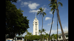 Timelapse, aloha tower, honolulu, oahu, hawaii. Stock Footage
