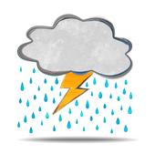 Climate. cloud, thunder and rain Stock Illustration