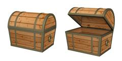 Stock Illustration of 3d wooden box