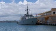 Canadian warship patrol boat MM 711 - 4 Stock Footage