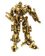 Golden robot - stock photo