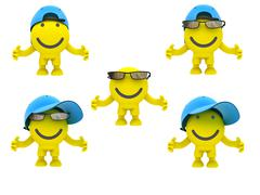 The smiley in a glasses Stock Photos
