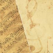 Background with musical symbols - stock illustration