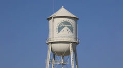 USA Hollywood Paramount studios water tower 2/2 Stock Footage