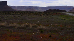 Castle valley with fisher towers and la sal mountains - utah landcape Stock Footage