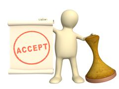Accept - stock illustration