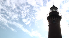 Little Sable Point Lighthouse Stock Footage