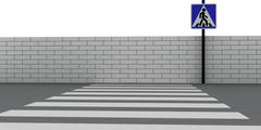 Crosswalk - stock photo