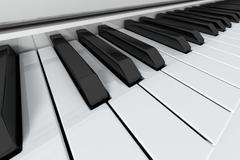 Grand Piano keys Stock Photos