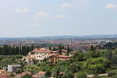 Distant city view - stock photo