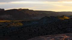 Utah landscape at sunset slow pan Stock Footage