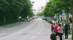 Marathon Runners Time Lapse 4K Stock Footage