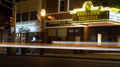 Town Theatre Timelapse Stock Footage