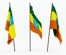 Flag of Ethiopia Stock Photos