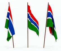Flag of Gambia - stock photo