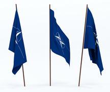 Flag of NATO - stock photo