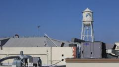USA Hollywood Paramount studios pan water tower - stock footage