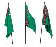 Flag of Turkmenistan Stock Photos
