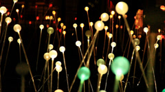 Field of lights decorations Stock Footage