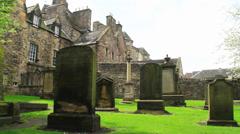 Greyfriars Kirk cemetery Stock Footage