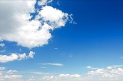 Stock Photo of cumulus clouds in the sky.