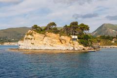 agios sostis, small island in greece, zakynthos - stock photo