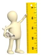 Stock Illustration of Puppet with information ruler