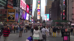 Stock Video Footage of NYC - Times Square - time lapse