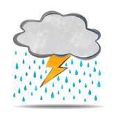 climate. cloud, thunder and rain - stock illustration