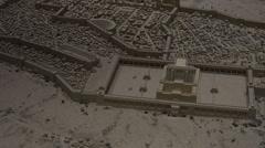 Old City of Jerusalem Israel model zoom in temple HD 135 Stock Footage