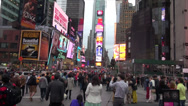 Stock Video Footage of NYC - Times Square - Real Time