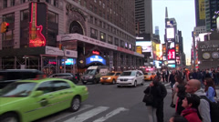 NYC - Times Square - Hard Rock - stock footage